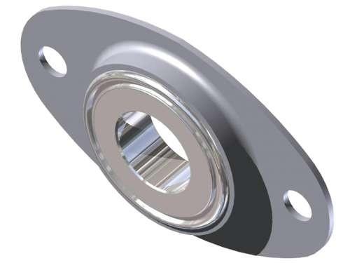 Lagerhalter aus verzinktem Stahl, mit Nut