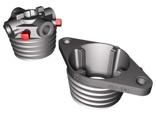 Paar Federköpfe M-67 Aluminium