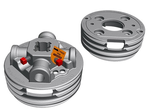 "Paar Federköpfe M-152 - 1,25"" Aluminium"
