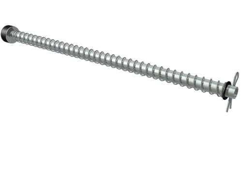Universeller Federpuffer , verz. Stahl, L= 690mm