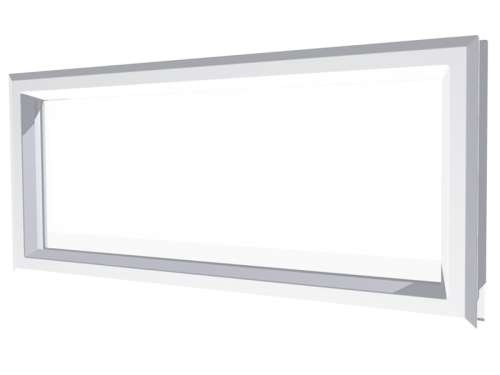 Rechteckiges Acrylfenster, Rahmen Polypropylen, weiß